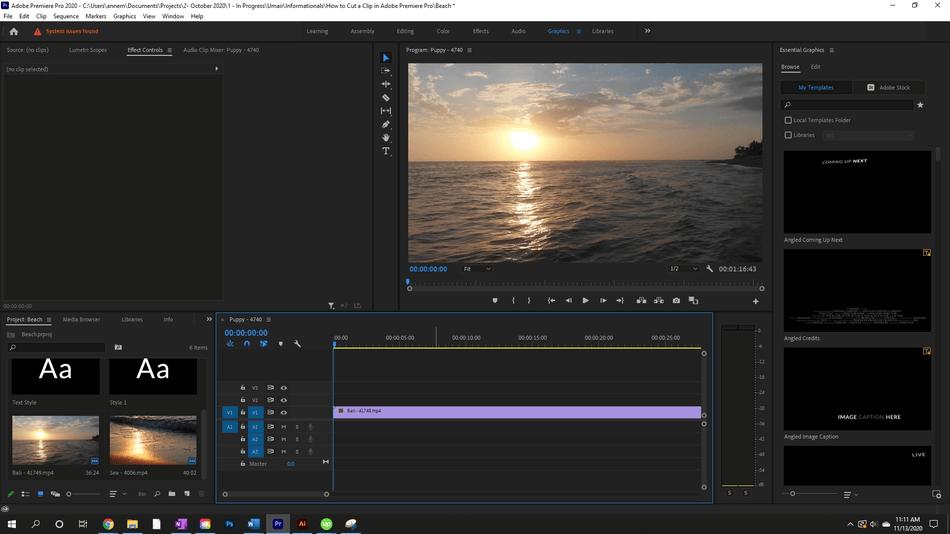 How to Cut a Clip in Adobe Premiere Pro 1
