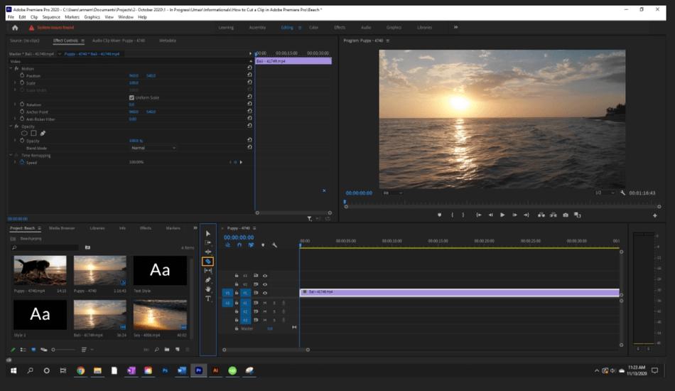 How to Cut a Clip in Adobe Premiere Pro 3
