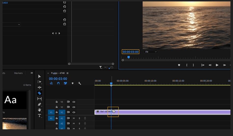 How to Cut a Clip in Adobe Premiere Pro 4