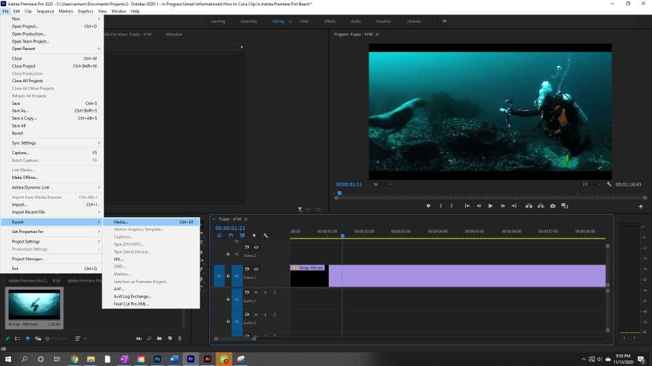 How to Export Adobe Premiere Pro File to mp4 Format 1