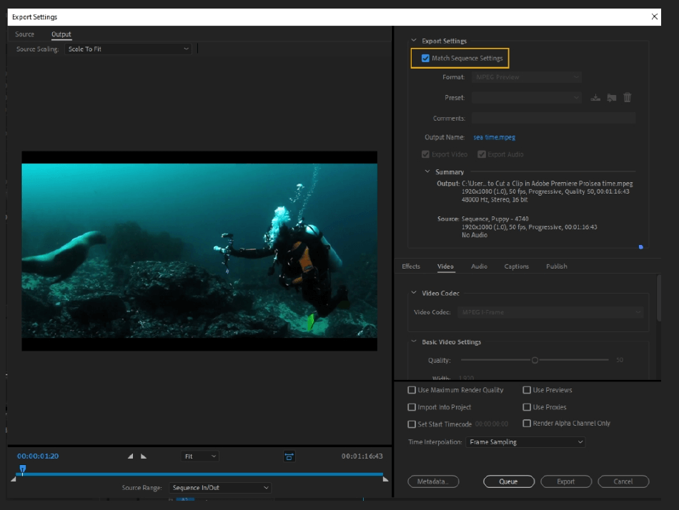 How to Export Adobe Premiere Pro File to mp4 Format 11