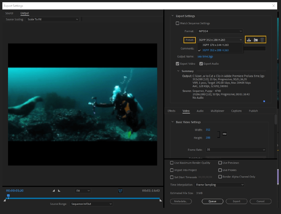 How to Export Adobe Premiere Pro File to mp4 Format 13