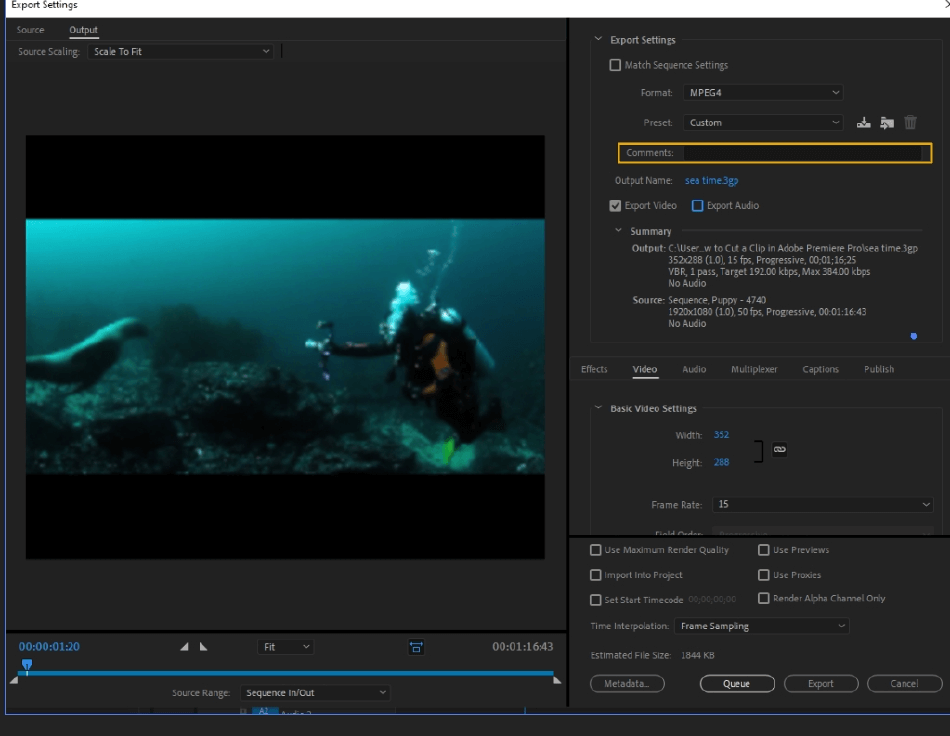 How to Export Adobe Premiere Pro File to mp4 Format 14