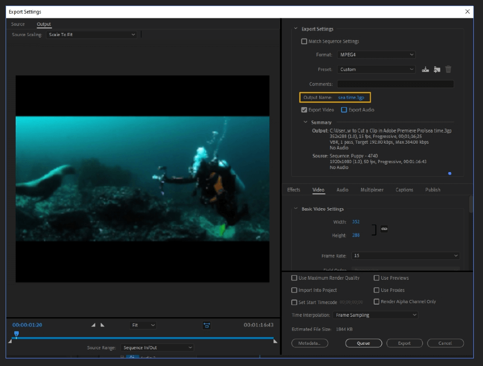 How to Export Adobe Premiere Pro File to mp4 Format 15