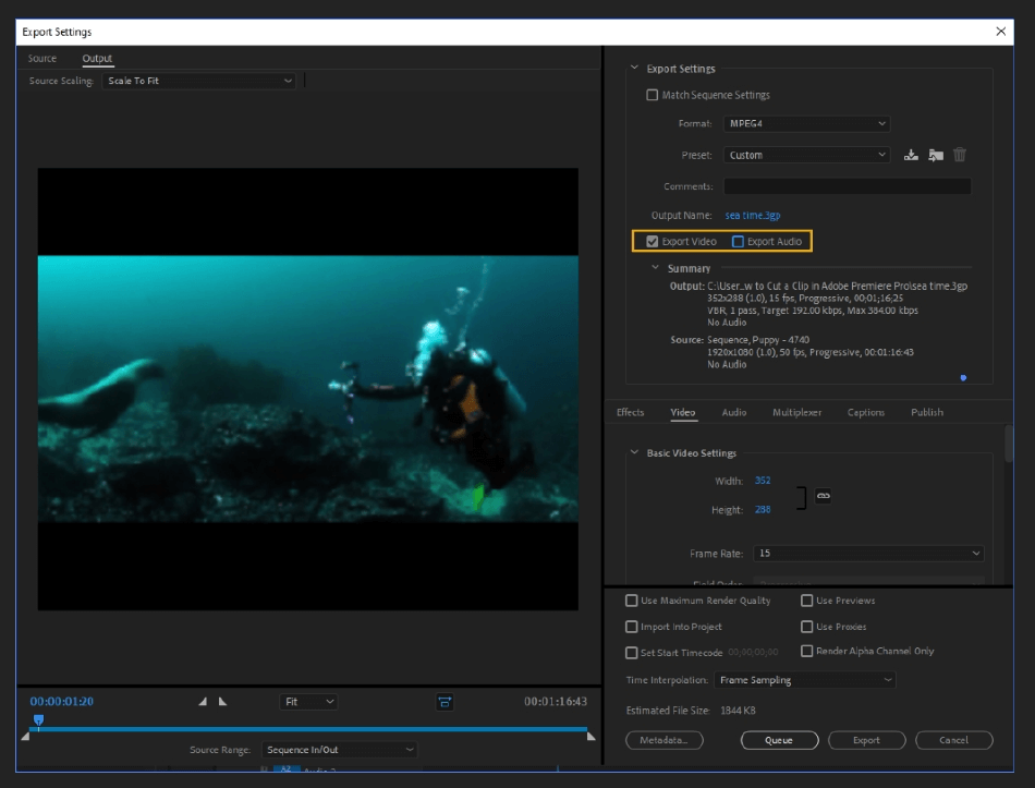 How to Export Adobe Premiere Pro File to mp4 Format 16