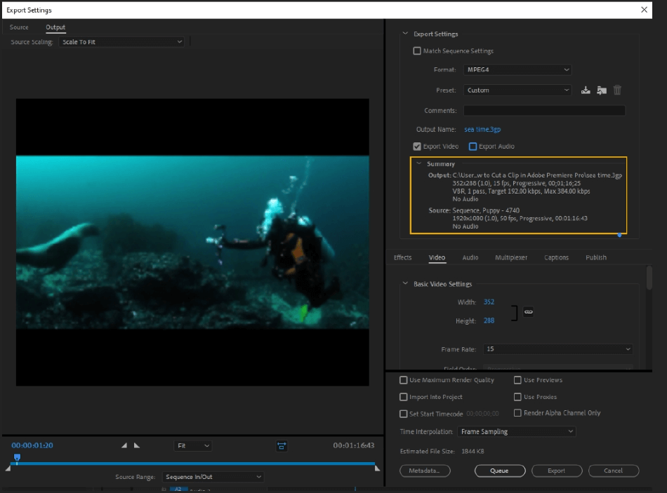 How to Export Adobe Premiere Pro File to mp4 Format 17