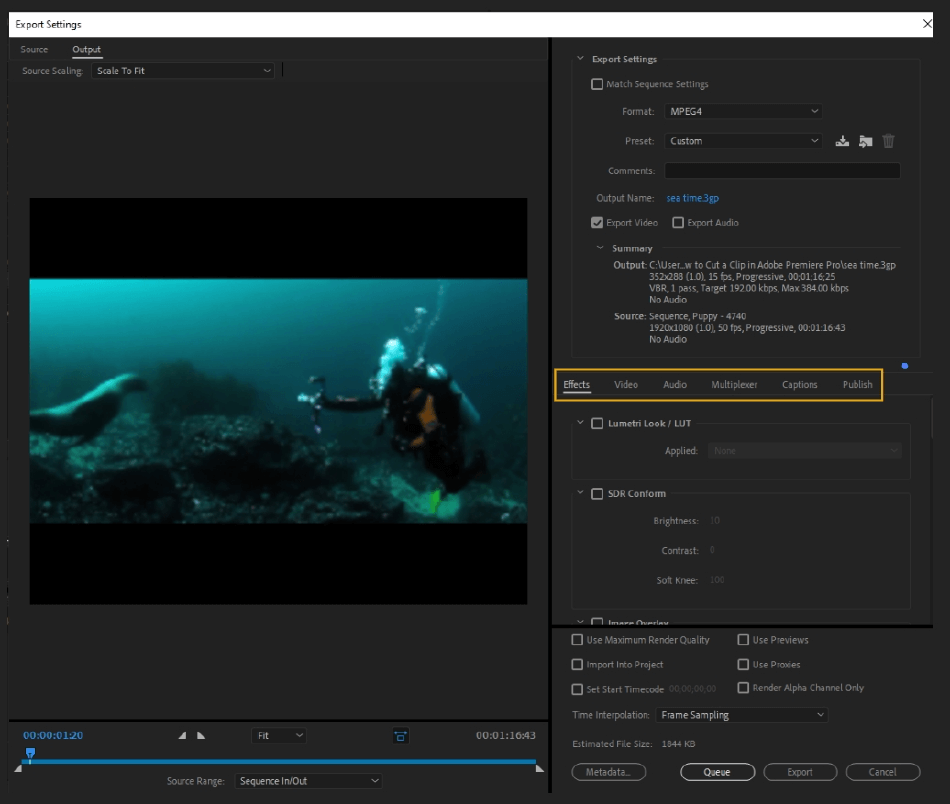 How to Export Adobe Premiere Pro File to mp4 Format 18