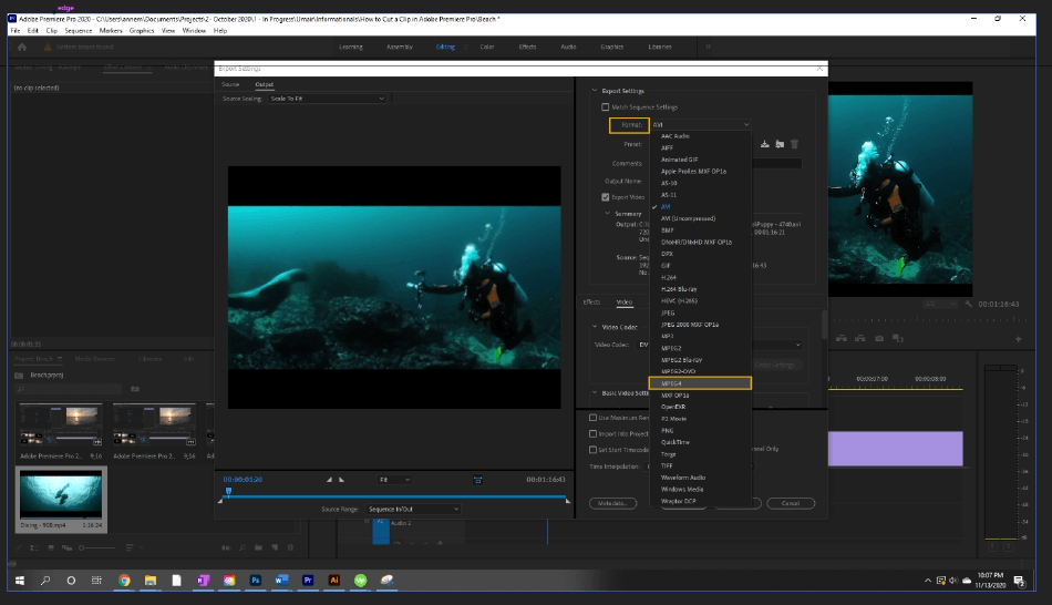 How to Export Adobe Premiere Pro File to mp4 Format 2