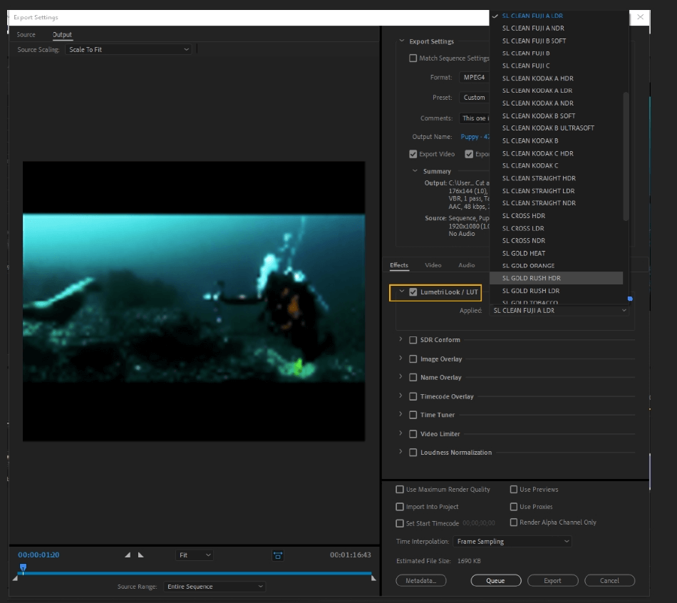 How to Export Adobe Premiere Pro File to mp4 Format 20