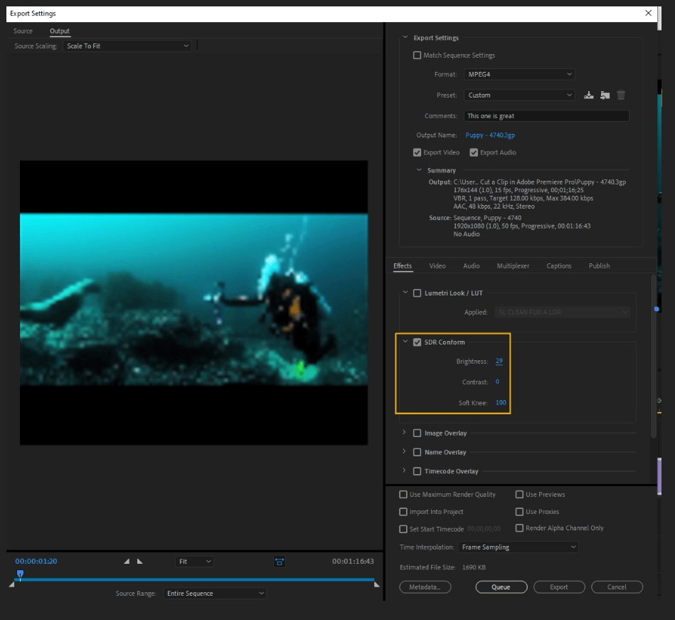 How to Export Adobe Premiere Pro File to mp4 Format 21