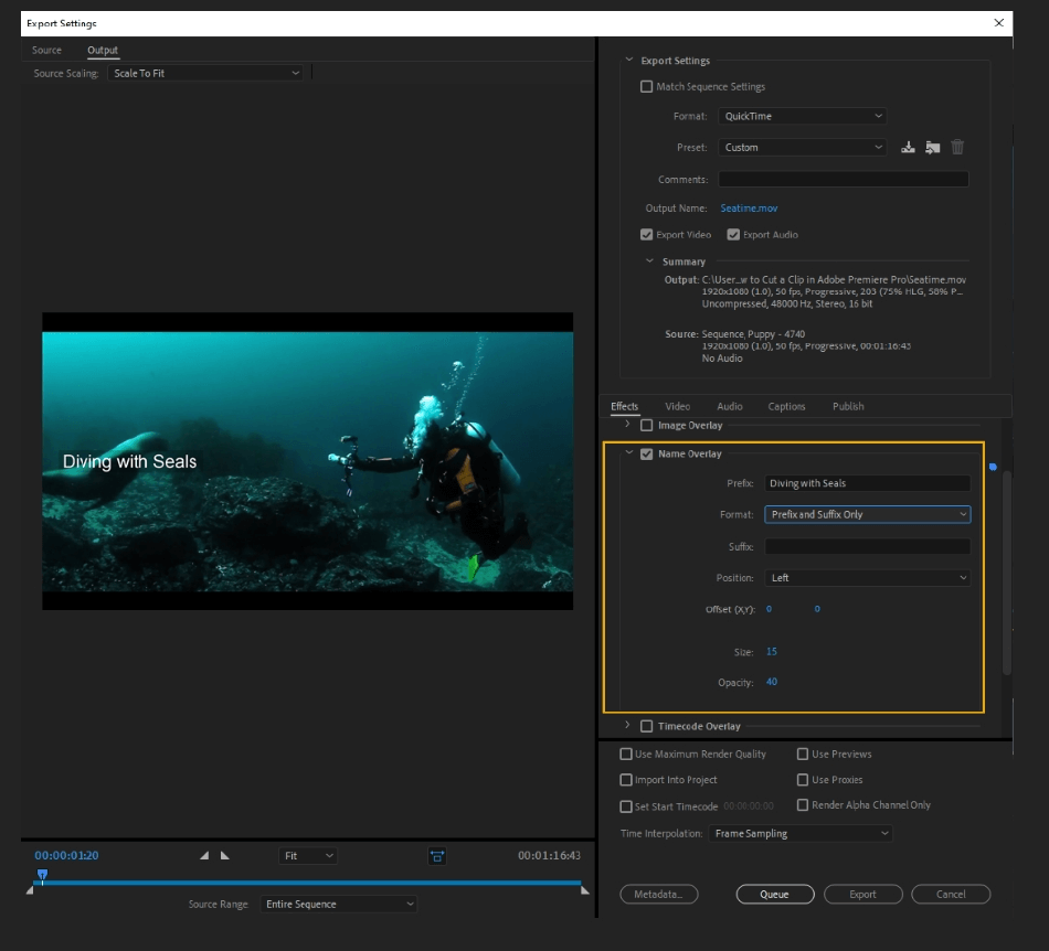 How to Export Adobe Premiere Pro File to mp4 Format 23