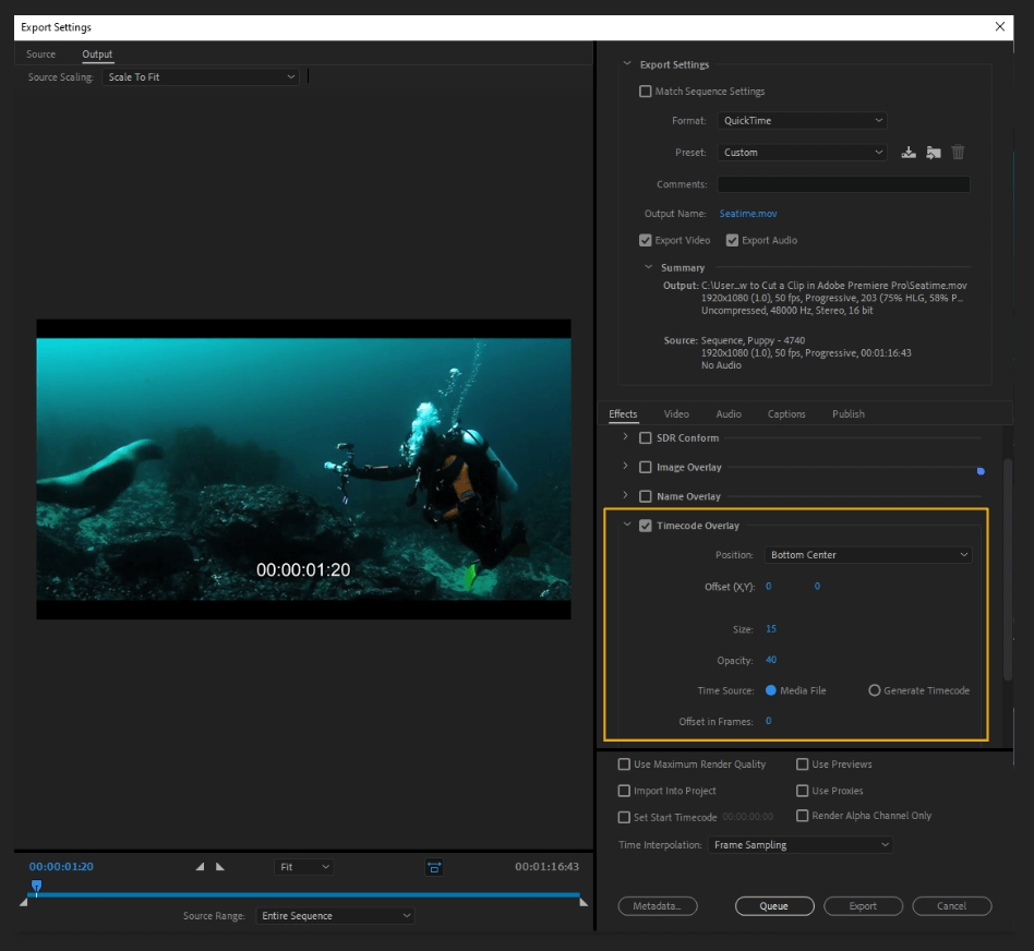 How to Export Adobe Premiere Pro File to mp4 Format 24