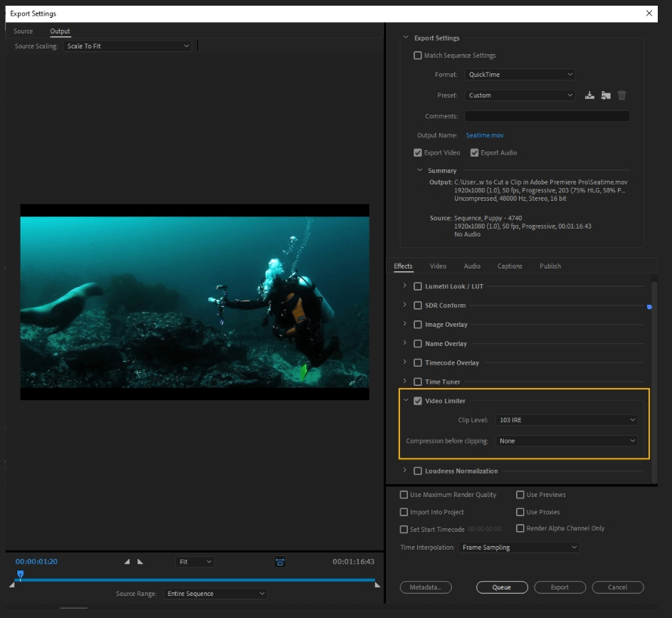 How to Export Adobe Premiere Pro File to mp4 Format 26