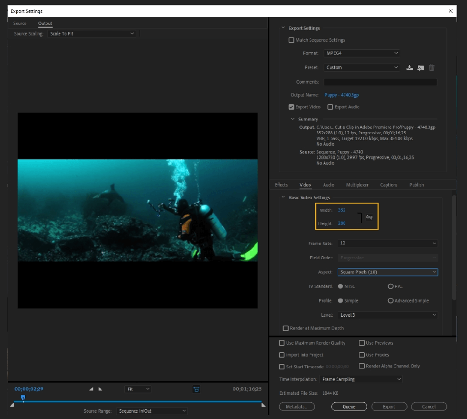 How to Export Adobe Premiere Pro File to mp4 Format 29