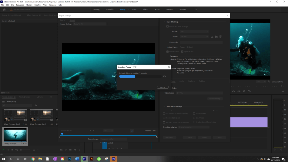 How to Export Adobe Premiere Pro File to mp4 Format 3
