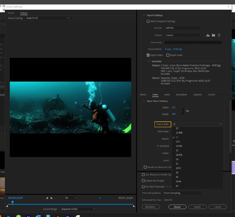 How to Export Adobe Premiere Pro File to mp4 Format 30