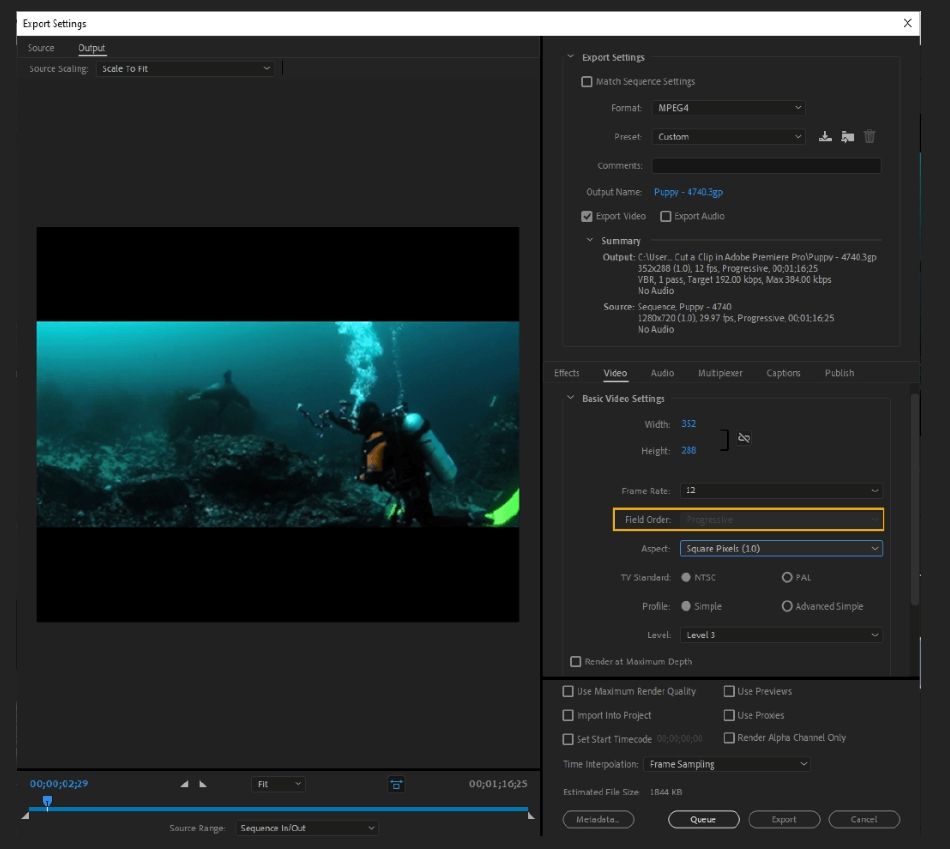 How to Export Adobe Premiere Pro File to mp4 Format 31