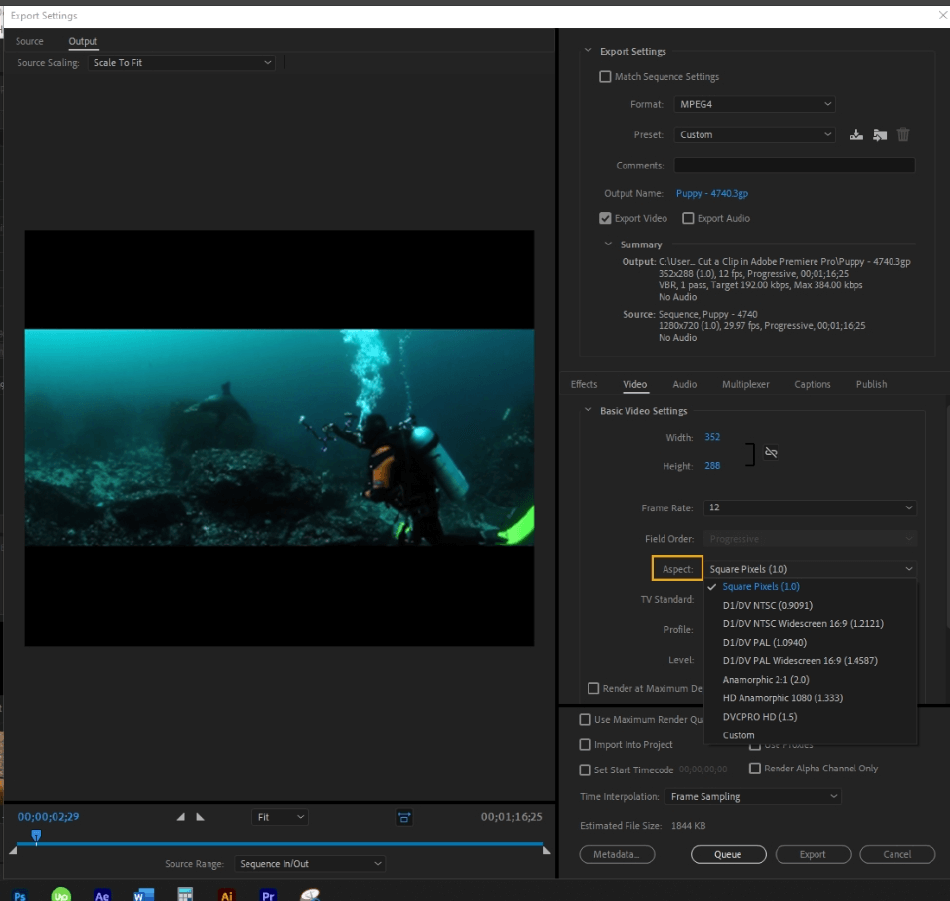 How to Export Adobe Premiere Pro File to mp4 Format 32
