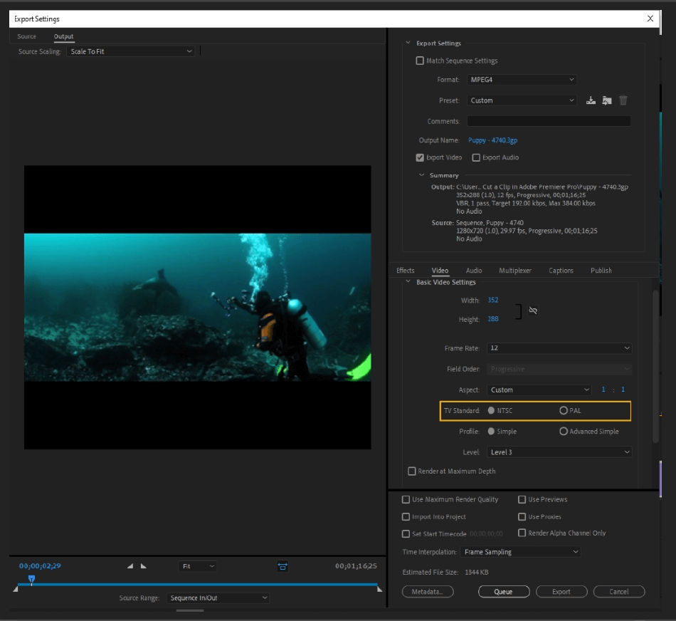 How to Export Adobe Premiere Pro File to mp4 Format 33