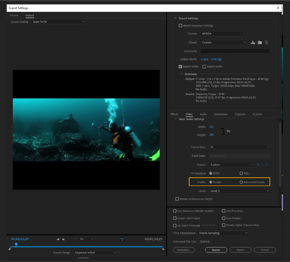 How to Export Adobe Premiere Pro File to mp4 Format 34