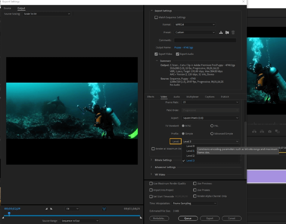 How to Export Adobe Premiere Pro File to mp4 Format 35
