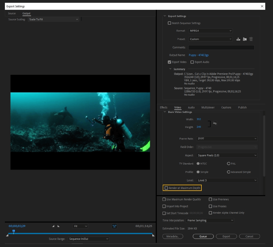How to Export Adobe Premiere Pro File to mp4 Format 36