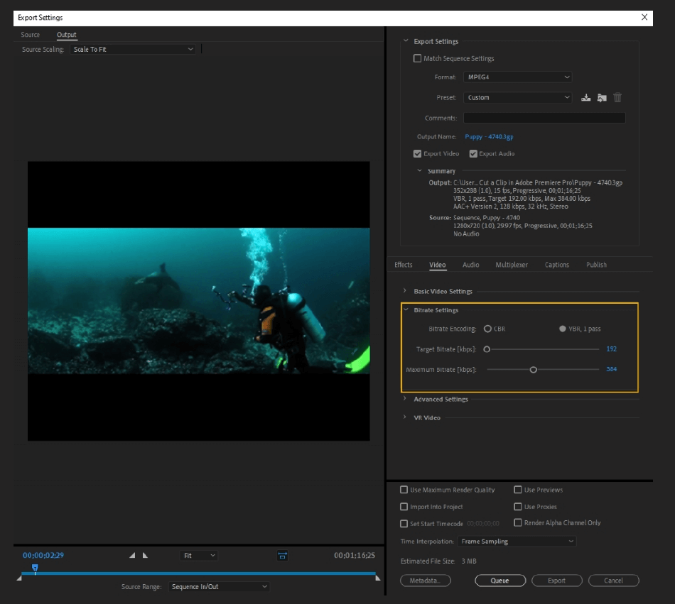 How to Export Adobe Premiere Pro File to mp4 Format 37