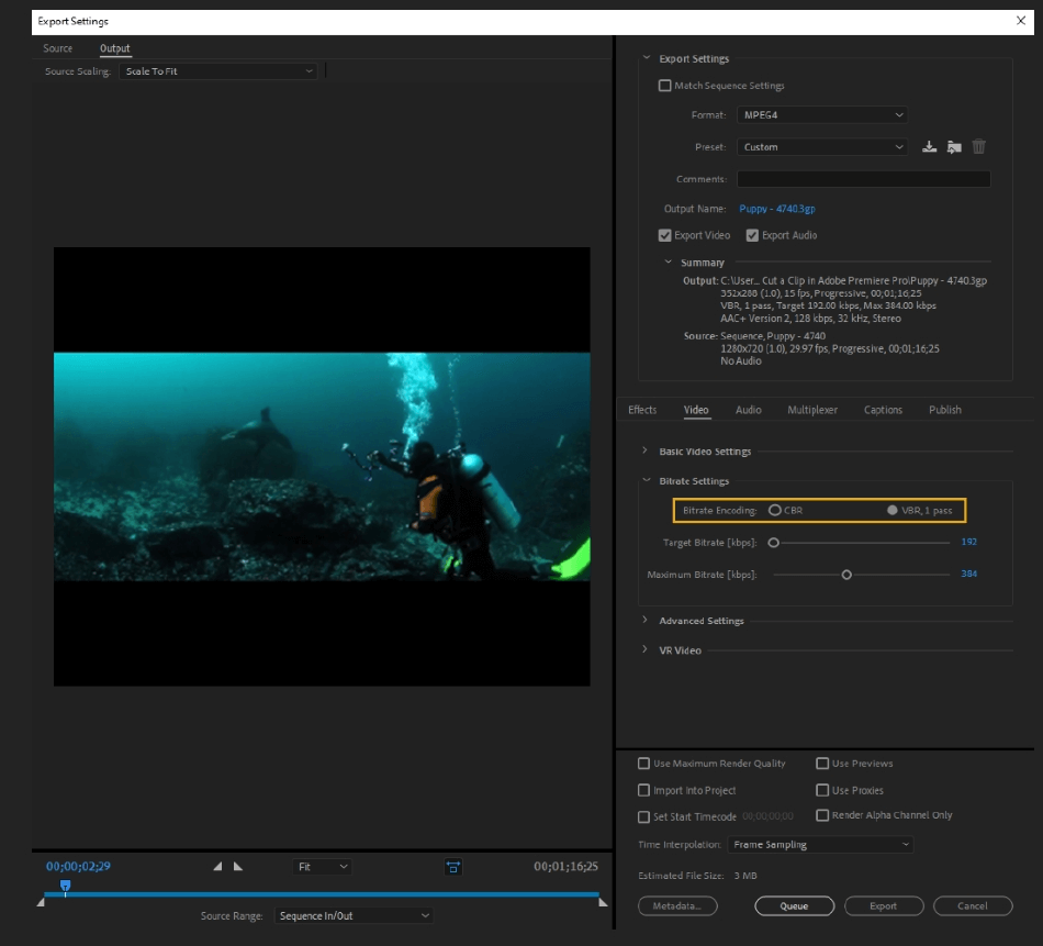 How to Export Adobe Premiere Pro File to mp4 Format 38