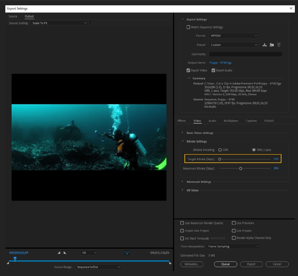 How to Export Adobe Premiere Pro File to mp4 Format 39