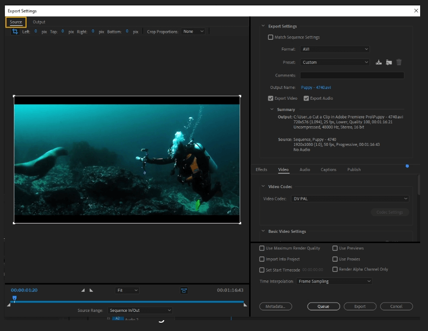How to Export Adobe Premiere Pro File to mp4 Format 4