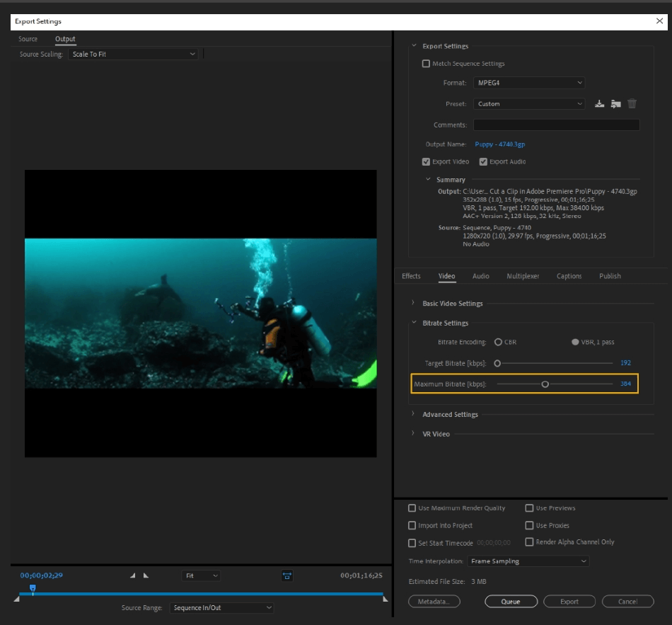 How to Export Adobe Premiere Pro File to mp4 Format 40