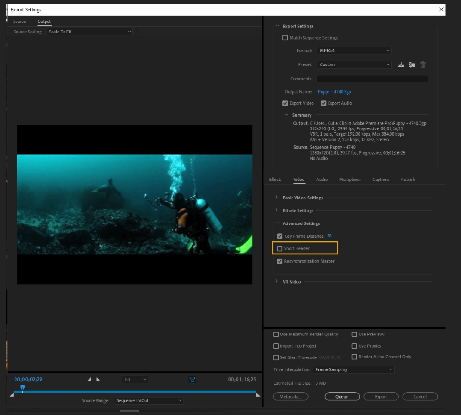How to Export Adobe Premiere Pro File to mp4 Format 43