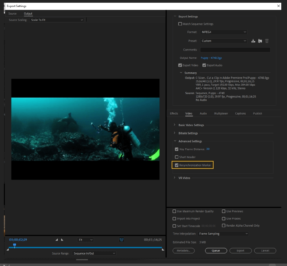 How to Export Adobe Premiere Pro File to mp4 Format 44