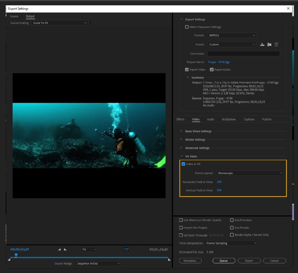 How to Export Adobe Premiere Pro File to mp4 Format 45