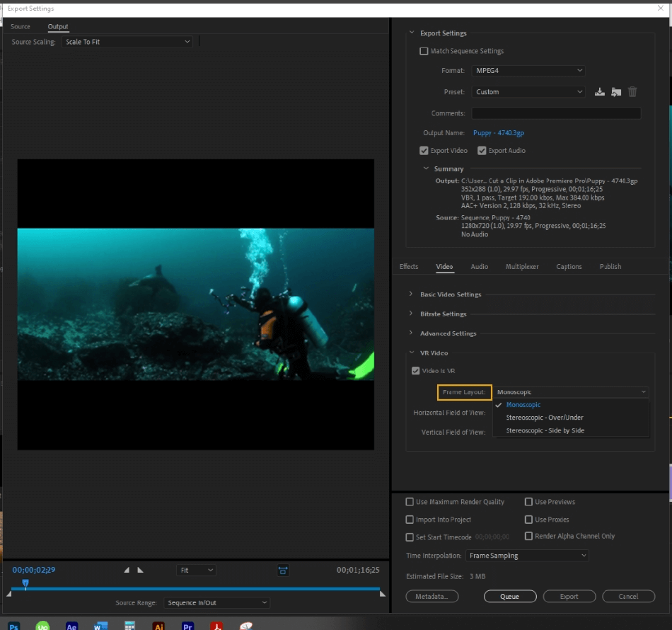 How to Export Adobe Premiere Pro File to mp4 Format 46