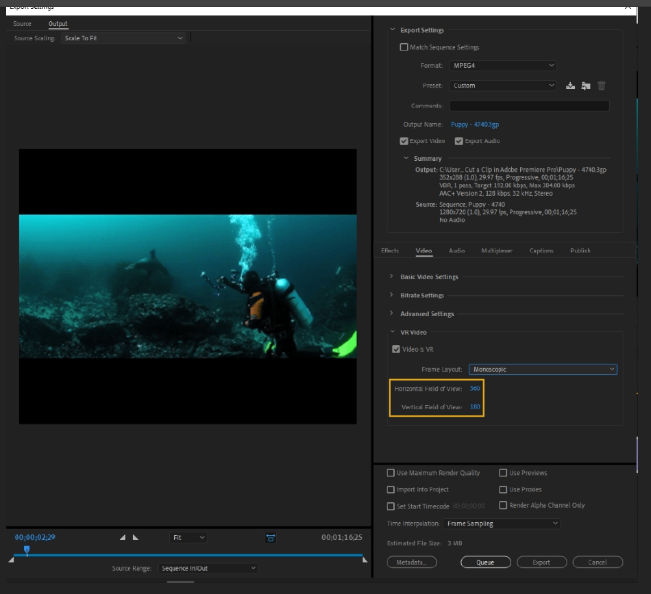 How to Export Adobe Premiere Pro File to mp4 Format 47