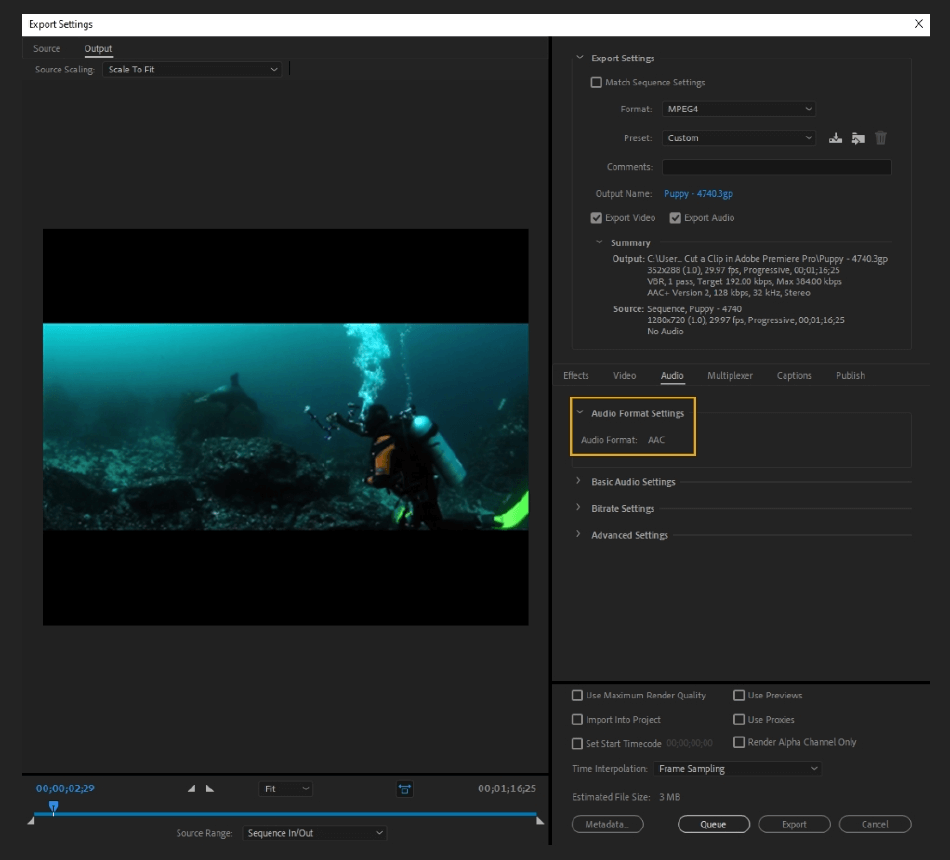 How to Export Adobe Premiere Pro File to mp4 Format 49