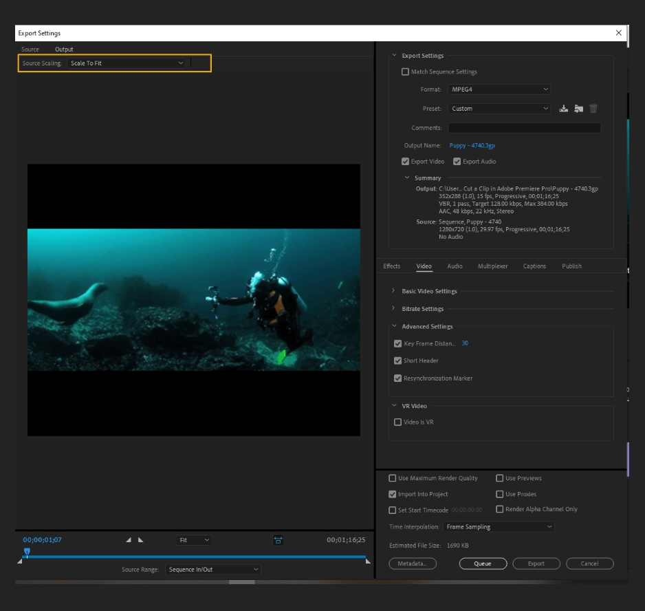 How to Export Adobe Premiere Pro File to mp4 Format 5