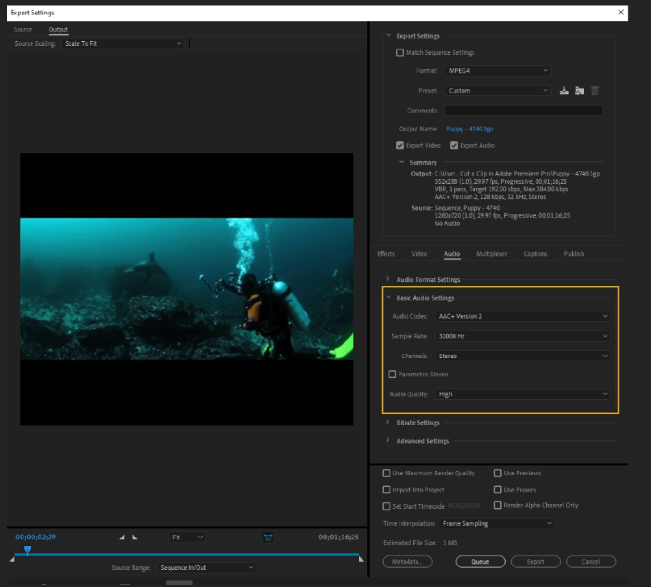 How to Export Adobe Premiere Pro File to mp4 Format 50