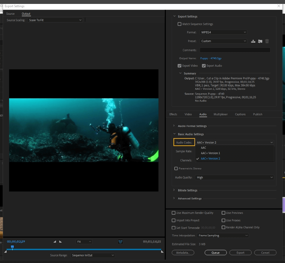 How to Export Adobe Premiere Pro File to mp4 Format 51