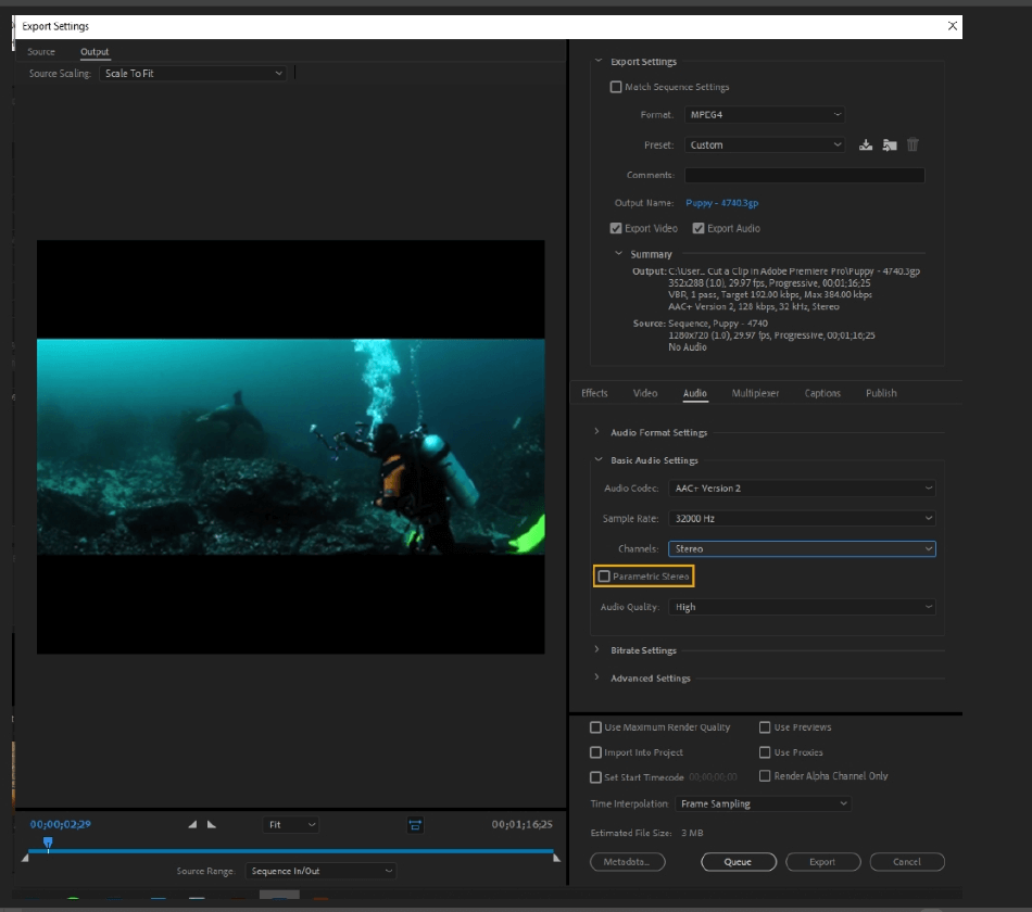 How to Export Adobe Premiere Pro File to mp4 Format 54