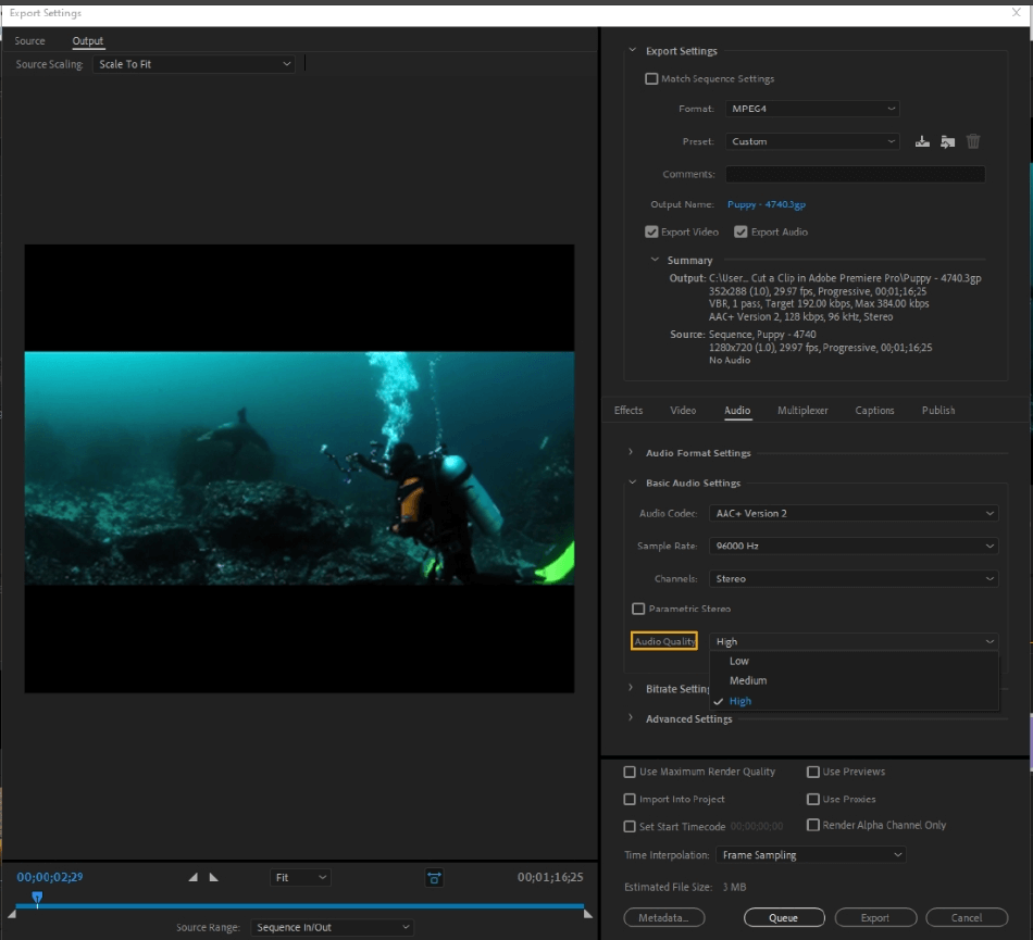 How to Export Adobe Premiere Pro File to mp4 Format 55