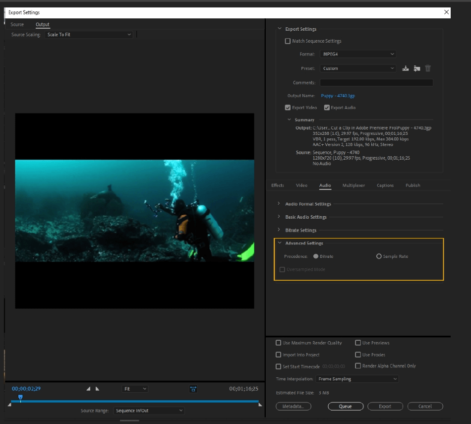 How to Export Adobe Premiere Pro File to mp4 Format 57