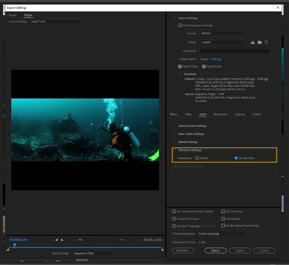 How to Export Adobe Premiere Pro File to mp4 Format 58