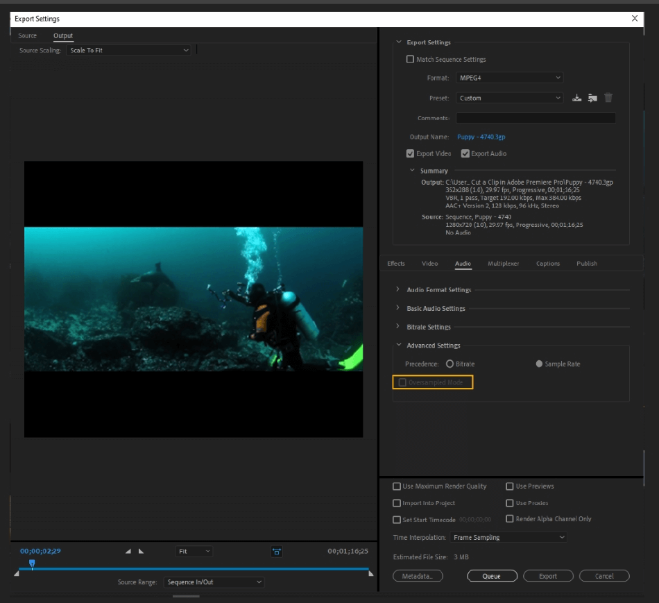 How to Export Adobe Premiere Pro File to mp4 Format 59