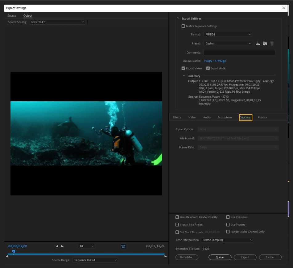 How to Export Adobe Premiere Pro File to mp4 Format 61