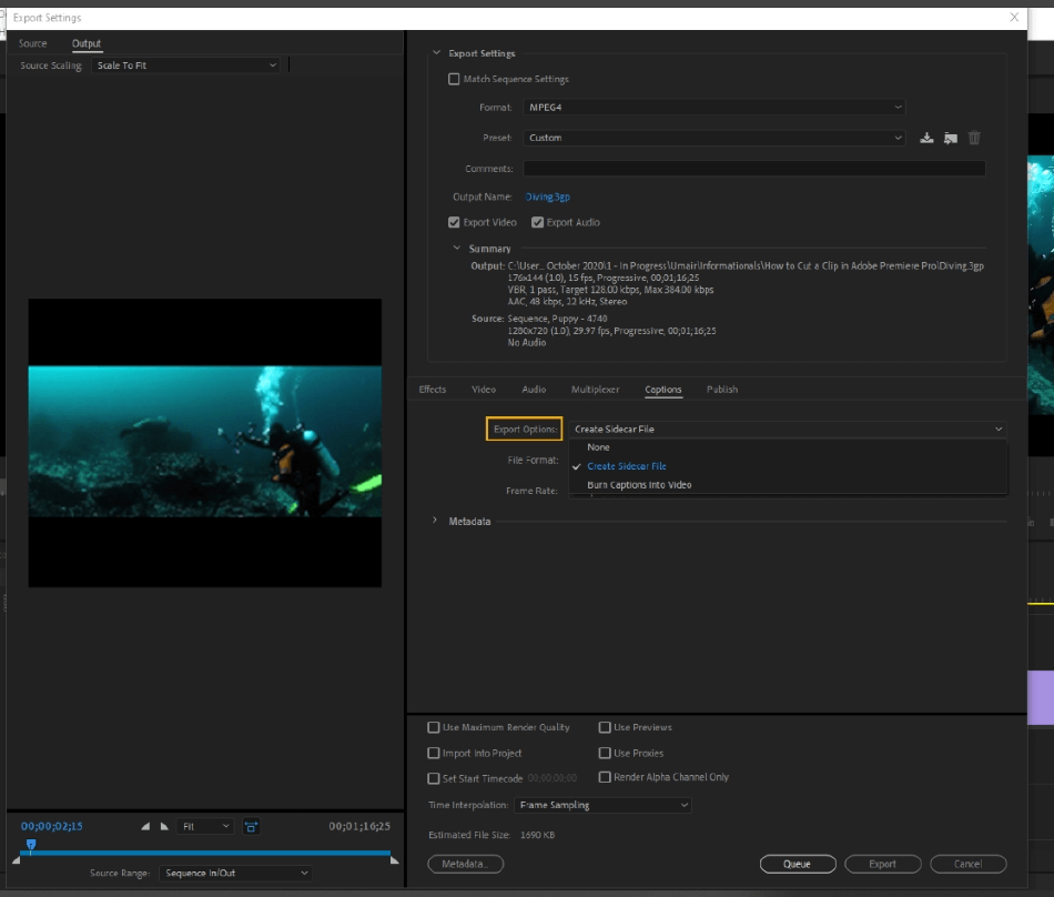 How to Export Adobe Premiere Pro File to mp4 Format 62