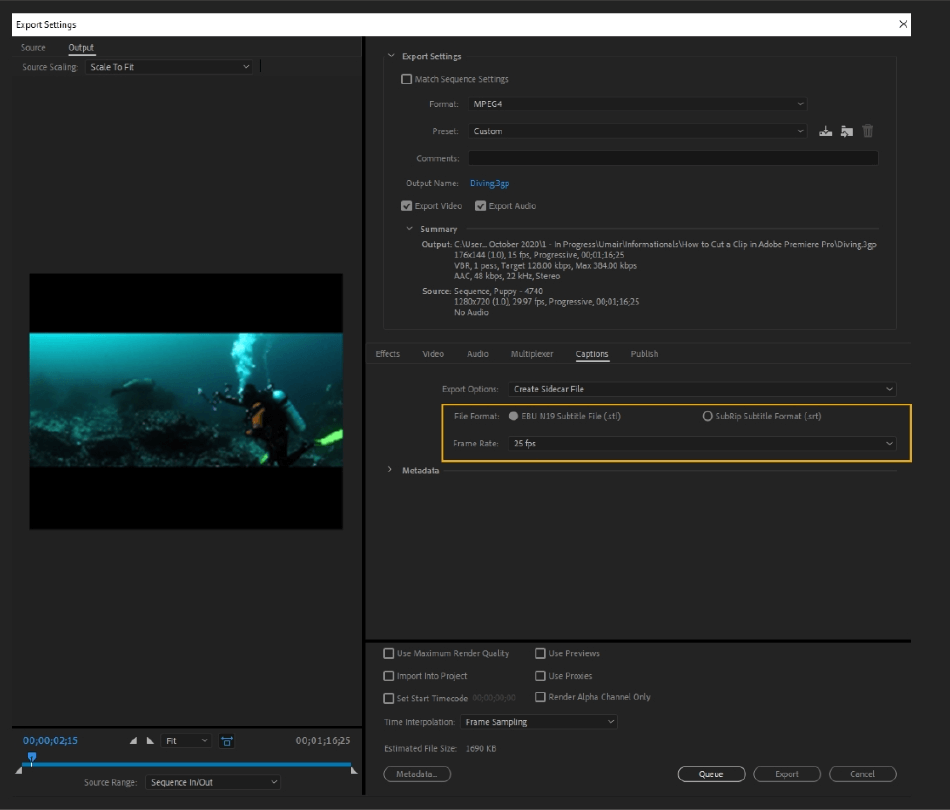 How to Export Adobe Premiere Pro File to mp4 Format 63