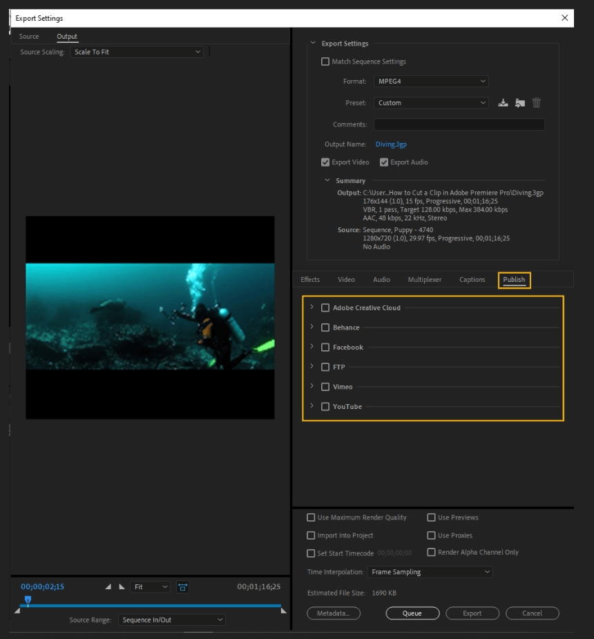How to Export Adobe Premiere Pro File to mp4 Format 65