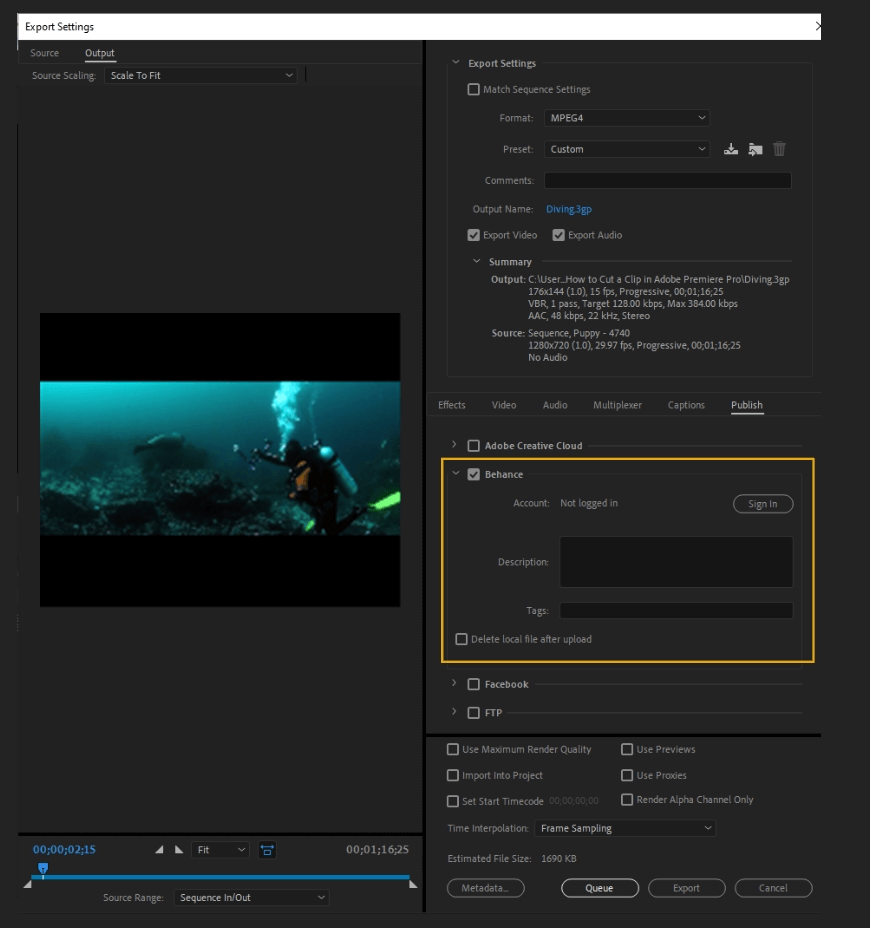 How to Export Adobe Premiere Pro File to mp4 Format 67